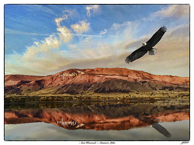 John Williams Digital Art - Ana Reservoir  Summer Lake by John Williams