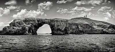 Photograph - Anacapa Island Afternoon In Black And White by Endre Balogh