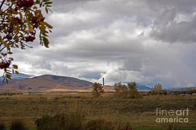 Photograph - Anaconda Smelter Stack by Cindy Murphy - NightVisions
