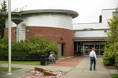 Photograph - Anacortes Public Library by Tom Cochran