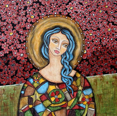 Christian Art . Devotional Art Painting - Anael by Rain Ririn