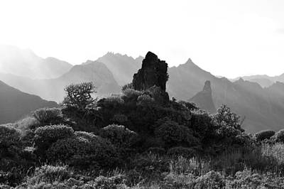 Photograph - Anaga Mountains Tenerife Monochrome by Marek Stepan