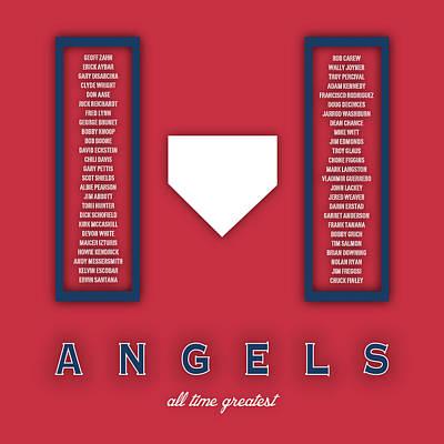 Mlb Digital Art - Anaheim Angels Art - Mlb Baseball Wall Print by Damon Gray