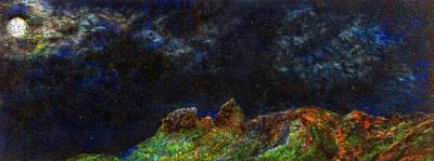 Anahola Moon Art Print by Kenneth Grzesik