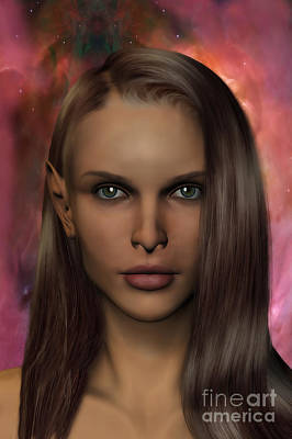 Anaire Child Of Iluvatar Print by John Edwards