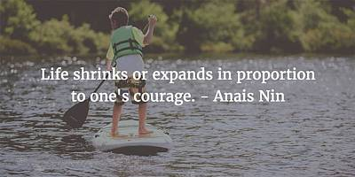 Photograph - Anais Nin Quote by Matt Create