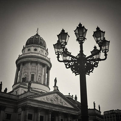 Berlin Photograph - Analog Black And White Photography - Berlin - Gendarmenmarkt Square by Alexander Voss