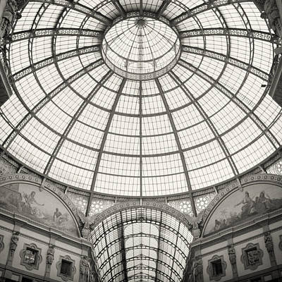 Medium Format Photograph - Analog Black And White Photography - Milan - Galleria Vittorio Emanuele II by Alexander Voss