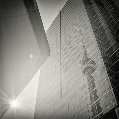 Street Photograph - Analog Black And White Photography - Toronto - Cn Tower by Alexander Voss