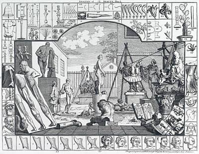 Analysis Of Beauty Engraving By Hogarth  1753 Art Print