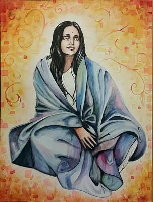 Carolyn Anderson Painting - Ananda Mayi Ma by Carolyn Anderson