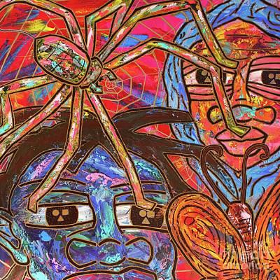 Painting - Anansi's Web by Odalo Wasikhongo