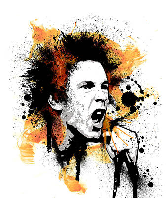 Johnny Rotten Painting - Anarchy by Laurence Adamson