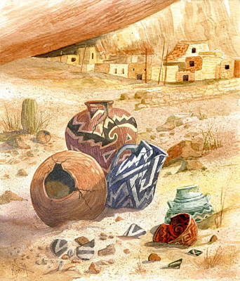 Artifact Painting - Anasazi Remnants by Marilyn Smith