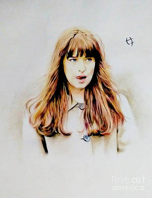Steele Drawing - Anastasia Steele by Hrishikesh Joshi