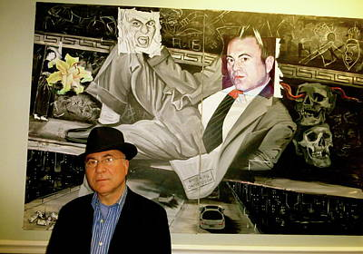Photograph - Anastasios Sarikas With His Portrait by Yelena Tylkina
