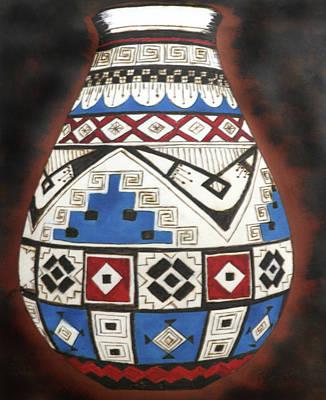 Anastazi Pot Art Print