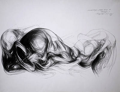 Abstracted Figuration Drawing - Anatomia De Un Deseo IIi by Mirjana Lucic