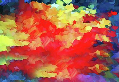 Mixed Media - Anatomy Of A Rose Abstract Grunge by Georgiana Romanovna