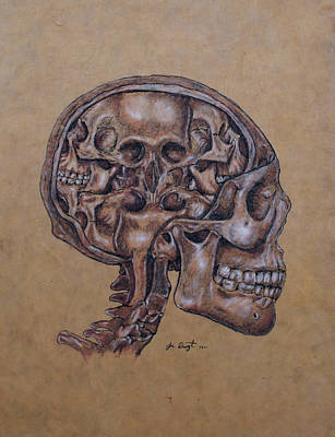 Anatomy Mixed Media - Anatomy Of A Schizophrenic by Joe Dragt