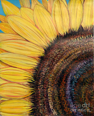 Nature Center Painting - Anatomy Of A Sunflower by Ecinja Art Works