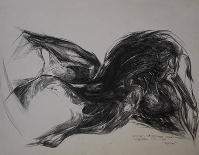 Abstracted Figuration Drawing - Anatomy Of Desire II by Mirjana Lucic