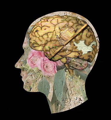 Brain Mixed Media - Anatomy Of Mind by Ruta Naujokiene