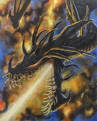 Silmarillion Painting - Ancalagon The Black by Kip Rasmussen