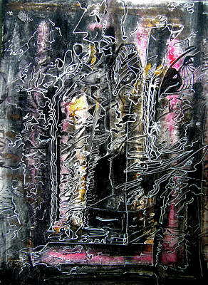 Subconscious Painting - Ancestors Wall by Mimulux patricia no