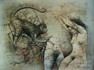 Wall Art - Drawing - Ancestral by Carole Lindberg