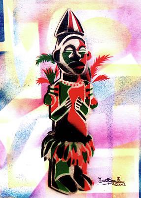 Wynton Marsalis Mixed Media - Ancestral Guardian by Everett Spruill