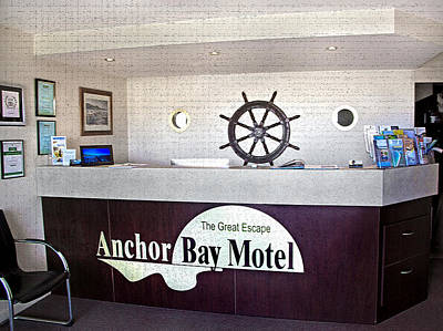 Photograph - Anchor Bay Motel Reception by Miroslava Jurcik