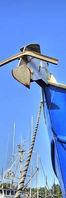 Photograph - Anchor Bow Line P 2375 by Jerry Sodorff