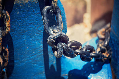 Photograph - Anchor In Blue by Sally Simon
