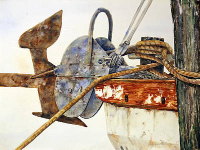 Anchor On The Bow 22x 30 Original by Shirley Sykes Bracken