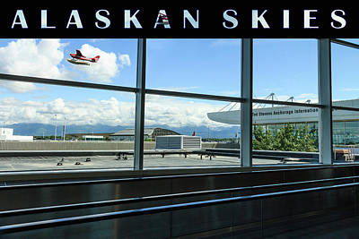 Photograph - Anchorage Alaska Airport  No1 Original by Joni Eskridge
