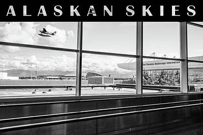 Photograph - Anchorage Alaska Airport  No4 High Key Black And White by Joni Eskridge