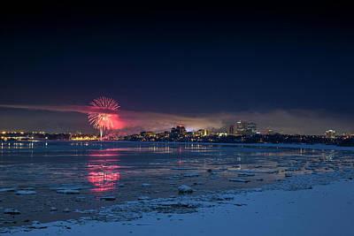 Photograph - Anchorage Fireworks by Matt Skinner