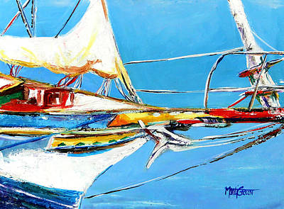 Anchored 2 Art Print by Marti Green