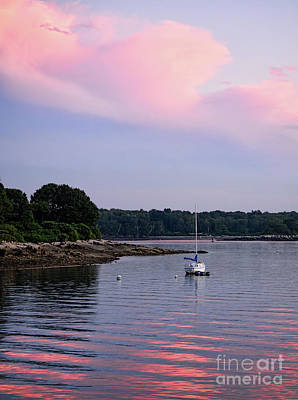 Photograph - Anchored At Peaks Island, Maine  -07828 by John Bald