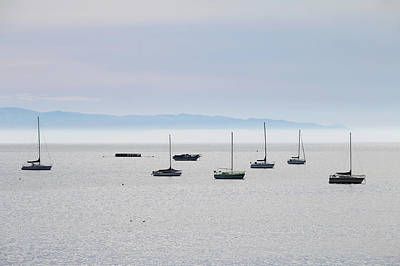 Photograph - Anchored In Avila Beach by Art Block Collections