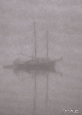 Digital Art - Anchored In Fog #1 by Wally Hampton