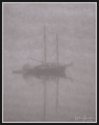 Digital Art - Anchored In Fog #2 by Wally Hampton