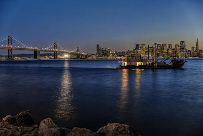 Photograph - Anchored In San Francisco Bay by PhotoWorks By Don Hoekwater