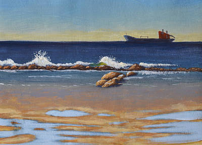 Painting - Anchored In The Bay by Leana De Villiers