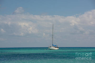 Photograph - Anchored In The Carribean by Cheryl Baxter