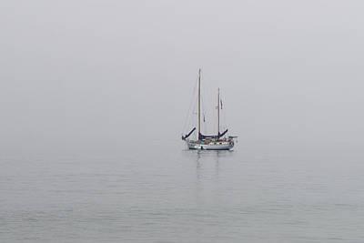 Photograph - Anchored In The Mist by Derek Dean