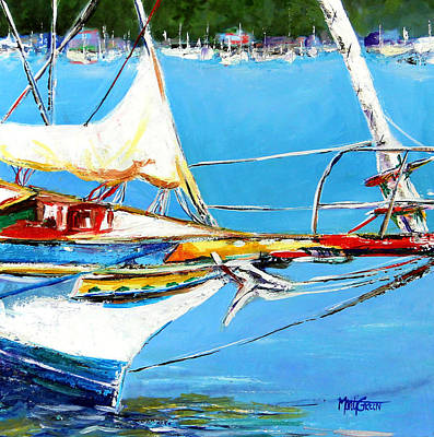 Anchored Art Print by Marti Green