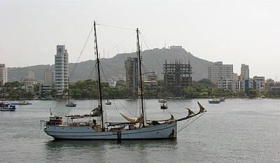 Photograph - Anchored Sailboat by Brett Winn