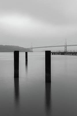 Photograph - Anchors For The Bay Bw by Jonathan Nguyen